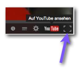 Youtube auf Vollbild umschalten